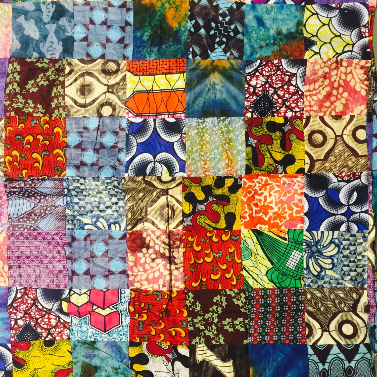 African Patchwork Fabric Per Yard Perfect For Quilting African