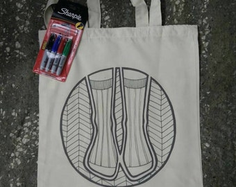 Colour your own Rockamolly WIP bag