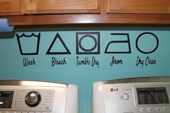 Laundy decal, Laundry Room Wall Art, Laundry Room Wall Decor, Laundry decals, Washing decals,