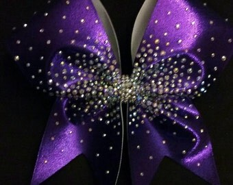 The Paige Bow-Heavy Scatter Cheer Bow with hand-placed rhinestones.