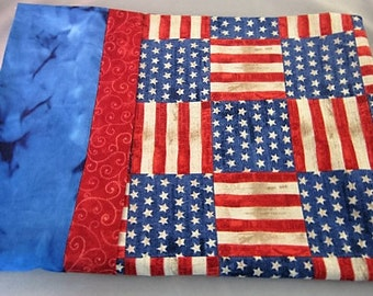 Pillow case Patriotic Red white and blue Regular or queen