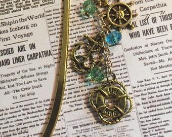 Gold Oceanic mini bookmark