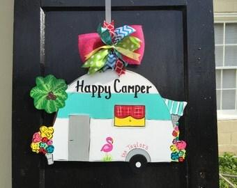 Summer door hanger,Camper door hanger,Camper wreath,RV door hanger,Custom door hanger,summer door sign, sweet tea door hanger