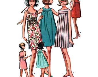 McCall's Sewing Pattern 7264 Misses' Dress / Shift  Size:  Teen Sml 9-10-11  Used