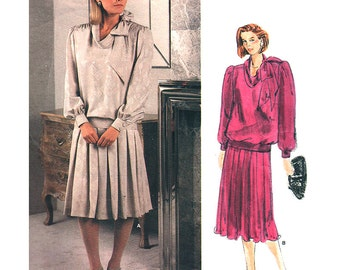Vogue Sewing Pattern 1411 Misses' Top, Skirt  by Adele Simpson American Designer  Size: 10  Uncut