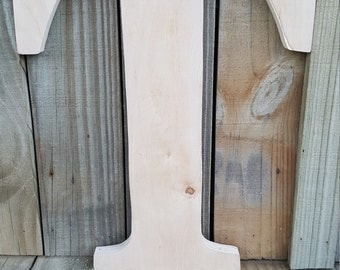 14 inch Unfinished Wooden Letters, wall decor, wall hanging, home decor