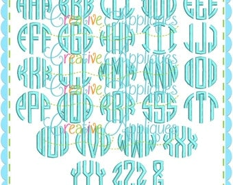 5 Sizes BX Natural Circle Embroidery Monogram Alphabet Font + 6 frames Digital Machine Embroidery Design, circle embroidery font