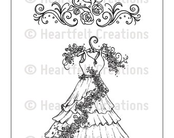Heartfelt Creations Cling Rubber Stamp Set ~ All Dressed Up, HCPC3704
