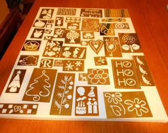 41 assorted lasting Impressions stamping up brass etching stencils Paula Hallen Darice Inc Barker Custom American traditional