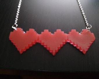 8 Bit Heart Necklace