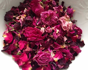 Dried Rose Petals and Rose Buds