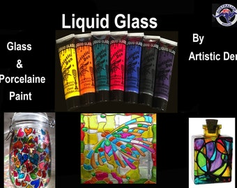 Stained Glass Paint Glass Paint Porcelain Paint 7 x 15ml Tile Paint Stained Glass Paint