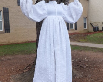 Vtg. Handmade Abolition Inspired Polyester Gown