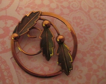 Copper Feather pin