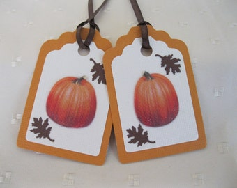 SALE! Fall Gift Tags,Thanksgiving Gift Tags, Pumpkin Gift Tags,Orange Gift Tags,Thanksgiving Party Tags,Fall Party Tags,School Party Tags