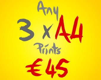 Any 3 A4 prints for 45