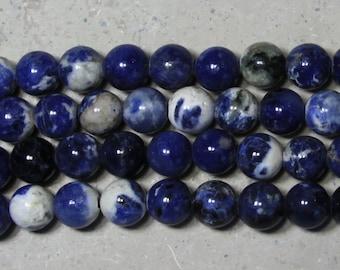 10mm Sodalite round large hole  beads