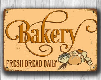 BAKERY SIGN, Bakery Signs, Vintage style Bakery Sign, Fresh bread daily bakery Sign, BAKERY, Bakery Decor, Bakery Wall Decor,Bakery Wall Art