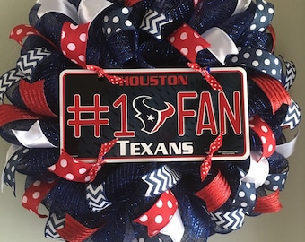 Houston Texans Mesh Wreath
