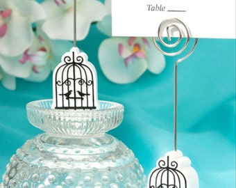 Birdcage Place Card Holder