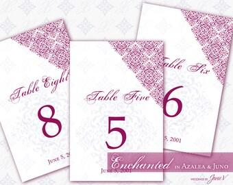 DIY Wedding Table Card Printable   Editable Table Number Template   Enchanted in Azalea & Juno