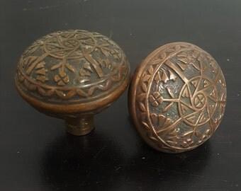 Bronze Vintage Floral Doorknob Set 530747