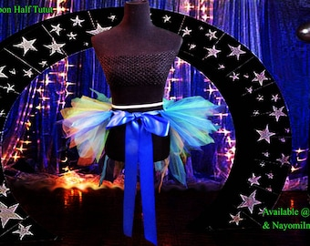 Peacock Half Tutu with Bustle Effect