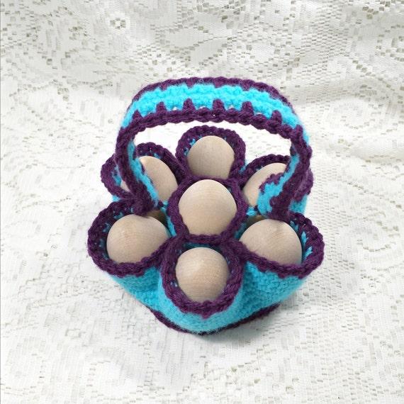 Crochet Egg Basket : Jr. Crochet Egg Carrying Basket, Egg Caddy, Egg Carton, Egg Collecting ...