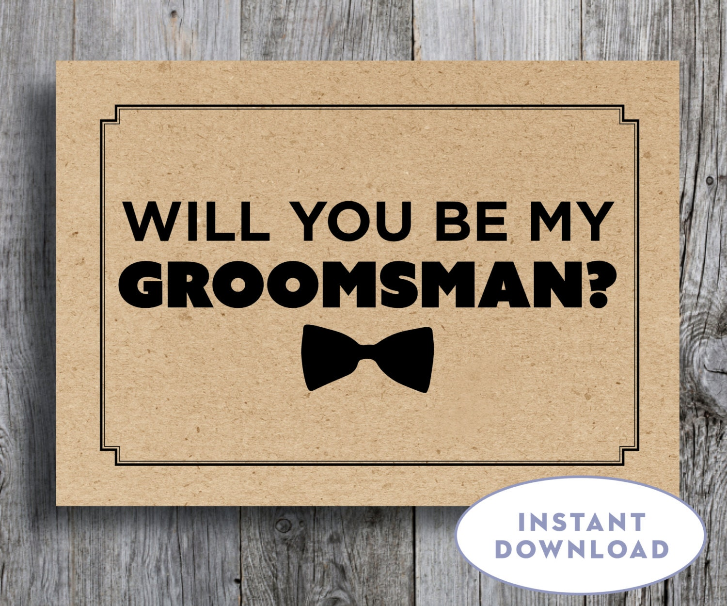 Striking image in will you be my groomsman printable