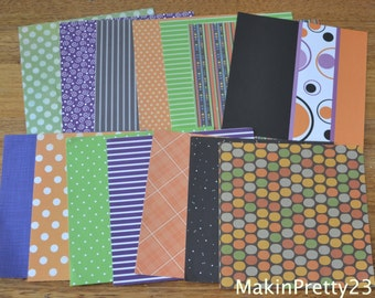 Halloween Patterned Paper 6x6 Scrapbook x 10 Sheets Patterned