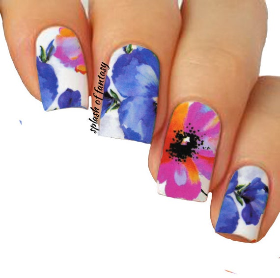 nail art water slide tattoo decals full