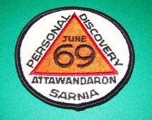 Vintage June 1969 Personal Discovery Attawandaron Sarnia Boy Scout BSA Patch