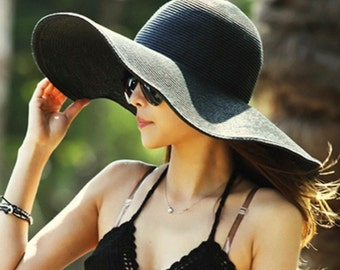 24 Inches Big Summer Beach Floppy Hat| 15 Colors Available