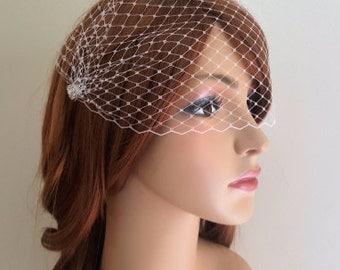 Birdcage Veil, mini veil, wedding veil, boho bride, Bridal veil, Bandeau Veil, Russian netting, small birdcage veil, mini wedding veil