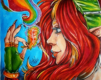Magic Feather ORIGINAL ART