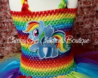 POPULAR RAINBOW PONY Tutu Dress