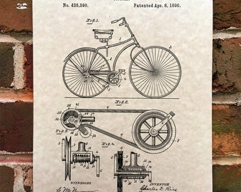 KillerBeeMoto: Duplicate of Original U.S. Patent Drawing For Multi-Geared Bicycle.