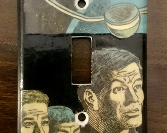 Star Trek light switch cover. Spock captain kirk