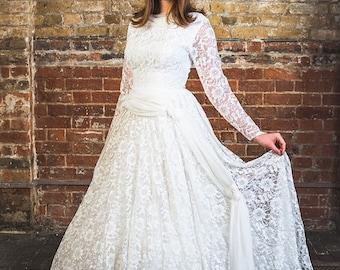 1950s vintage wedding dress S/M