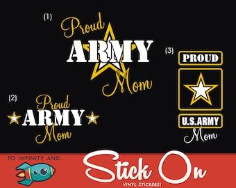 Proud Army Mom Decal, Proud Army Mom Car Decal, Army Mom Sticker