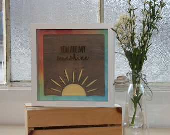 You Are My Sunshine-Framed Wooden Wall Art