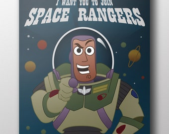 "Toy Story - Space Ranger Poster 11"" x 14"""