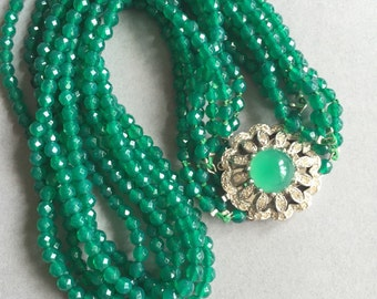 Lovely Green Onyx Necklace