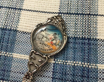 Authentic Disney Mickey Mouse Commemerative Silver Plated Spoon 60th Birthday