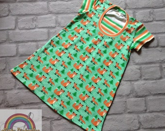 Age 3-4 years Foxes jersey dress