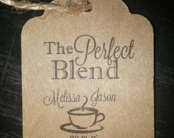 The Perfect Blend Personalized Wedding Favor Thank You Hang Tags Tag