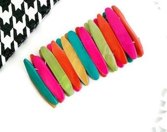Neon Bracelet, Statement Bracelet, Bangle, Cuff bracelets