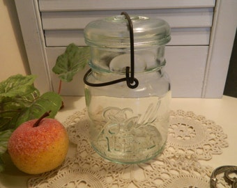Vintage Wire Lid Ball Canning Jar - #6 on bottom