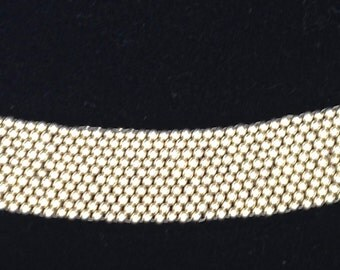 Silver Color Woven Beaded Bracelet