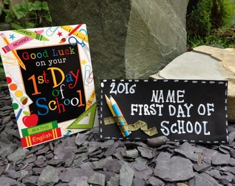Fist day of school sign, first day keepsake, school sign, school keepsake, starting school gift, first day gift, school gift